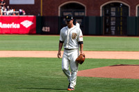 Matt Cain being removed from the game